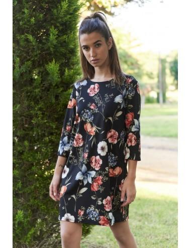 Vestido neopreno flores