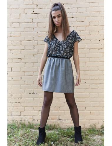 Falda mini 2 colores
